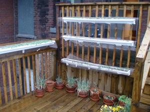 Gutters on Volunteer Hamilton rooftop garden