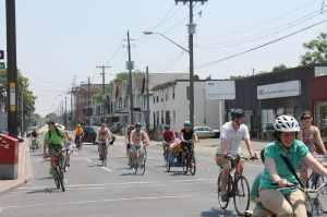 Biking on Cannon St.