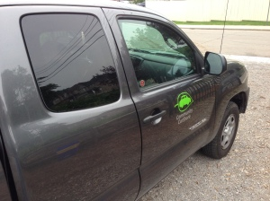 We used our Community CarShare membership to book the Toyota Tacoma to help us get everything for our booth from the EcoHouse to the Open Streets festival in Hamilton.