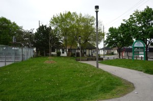 The Andrew Warburton Memorial Park, which is now the home of 32 new trees.