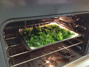 Kale Chips - made by Children from  Riverdale Neighborhood cooking classes