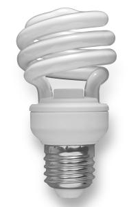 A Compact Fluorescent Bulb, aka CFL.